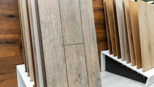 home improvement - laminate flooring samples in a shop